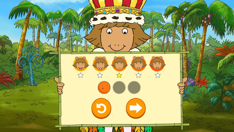 Arthur D.W.'s Island Bugball Game Level Complete Screenshot.