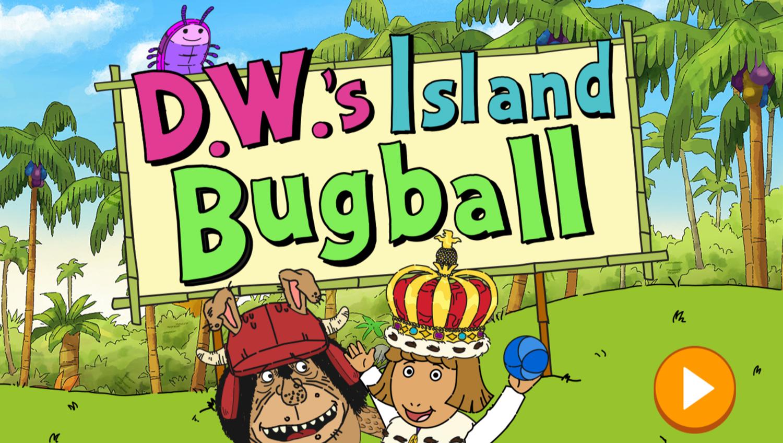 Arthur D.W.'s Island Bugball Game Welcome Screen Screenshot.