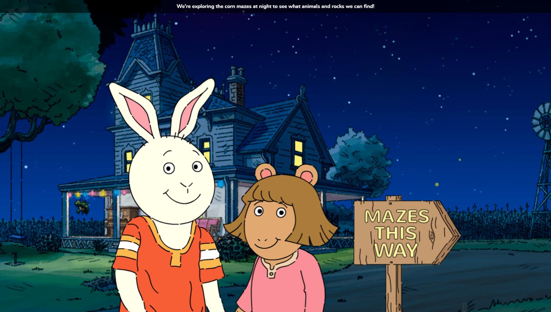 Arthur Moonlight Mazes Game Start Screenshot.