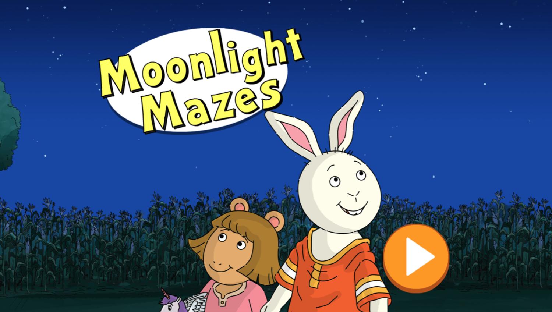 Arthur Moonlight Mazes Game Welcome Screen Screenshot.
