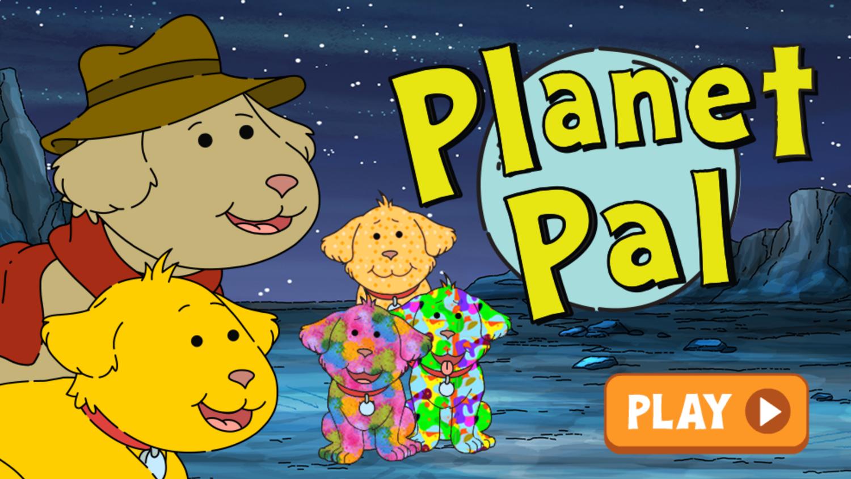 Arthur Planet Pal Game Welcome Screen Screenshot.