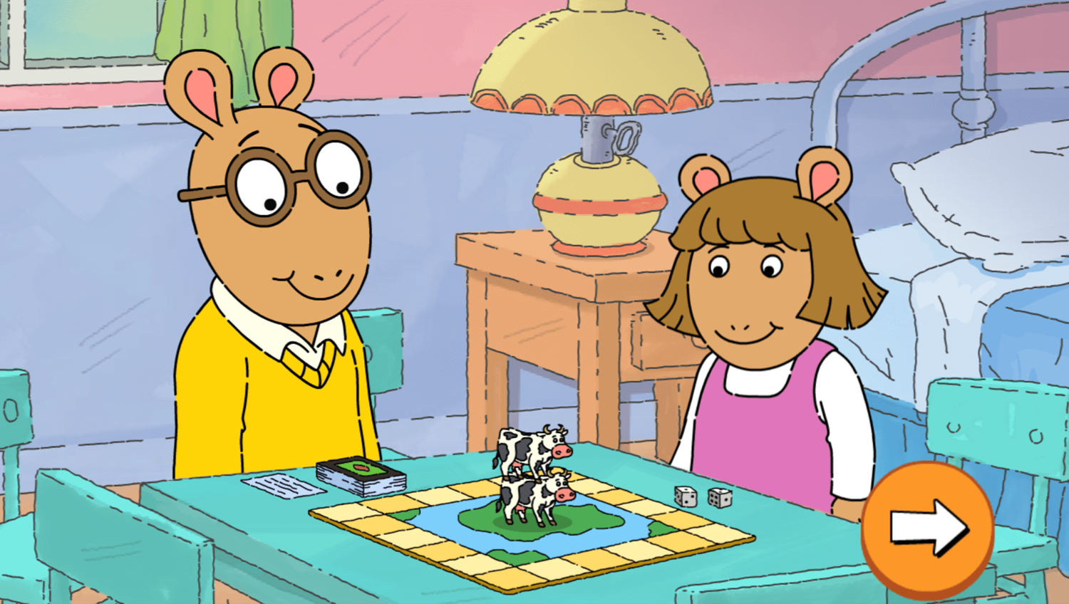 Arthur Tower of Cows Game Introduction Screenshot.