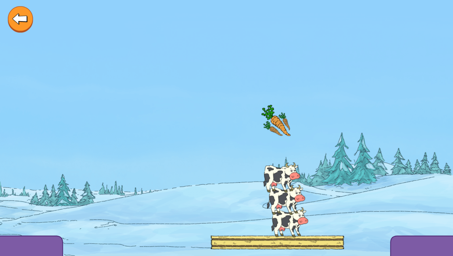 Arthur Tower of Cows Game Move Gameplay Screenshot.