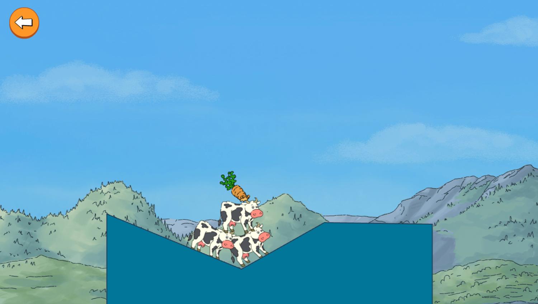 Arthur Tower of Cows Game Pile Gameplay Screenshot.