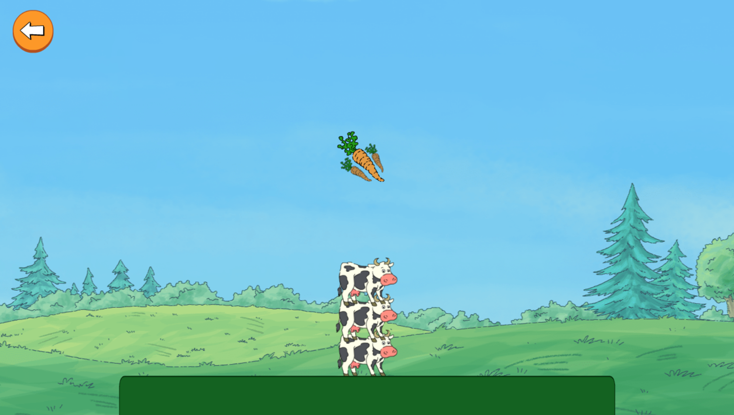 Arthur Tower of Cows Game Stack Gameplay Screenshot.
