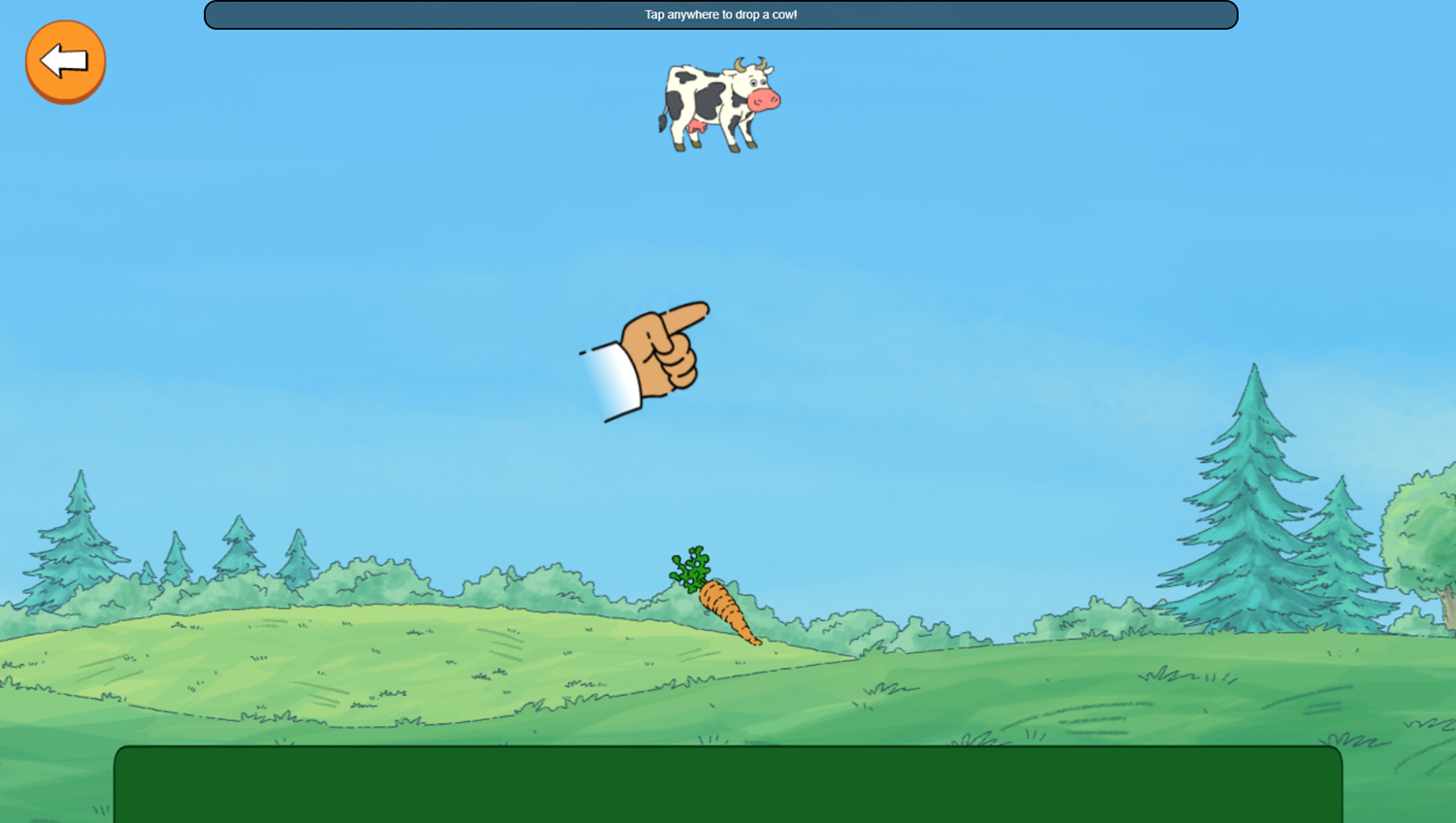 Arthur Tower of Cows Game Stack How To Play Screenshot.
