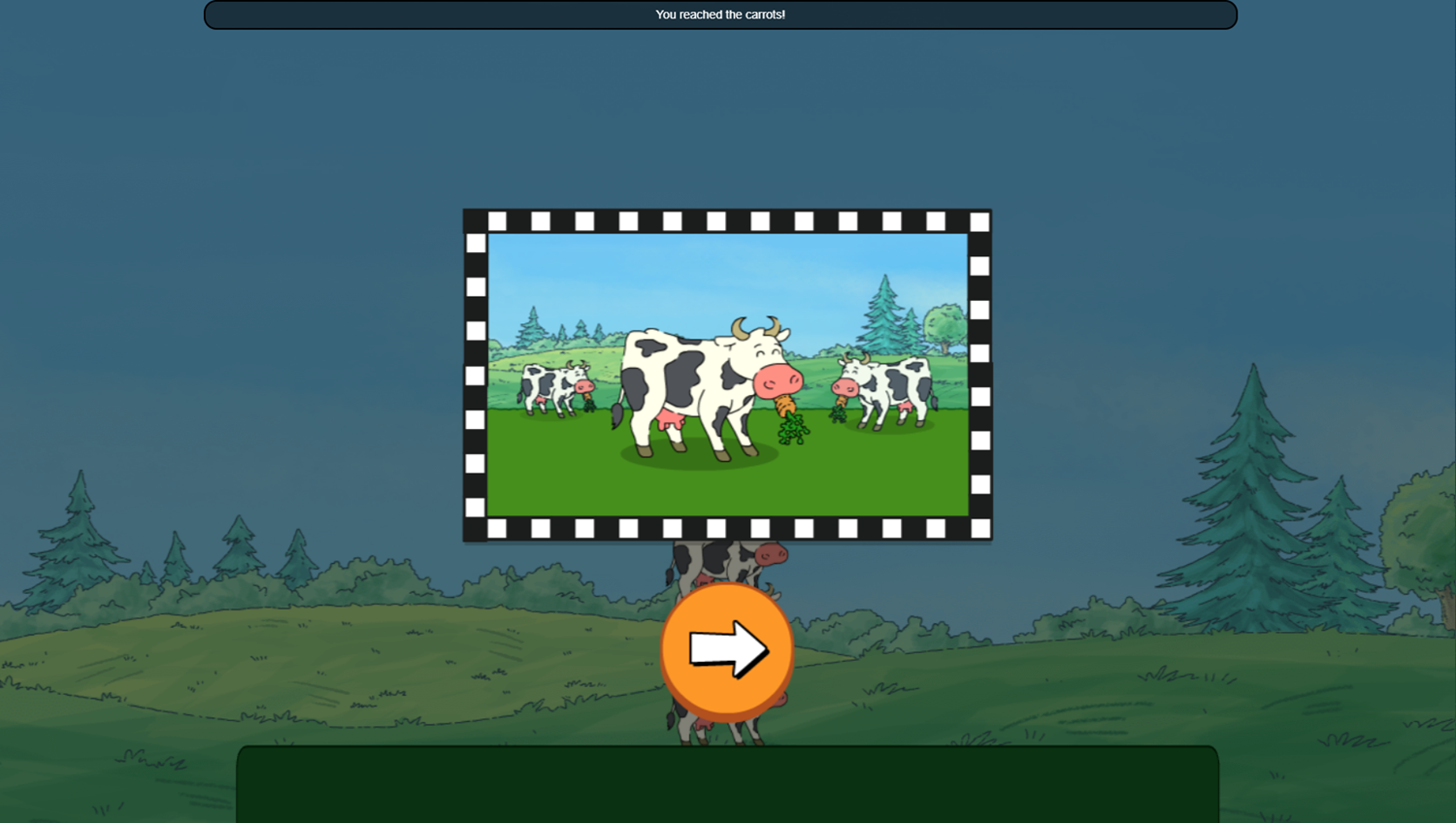 Arthur Tower of Cows Game Stack Level Complete Screenshot.
