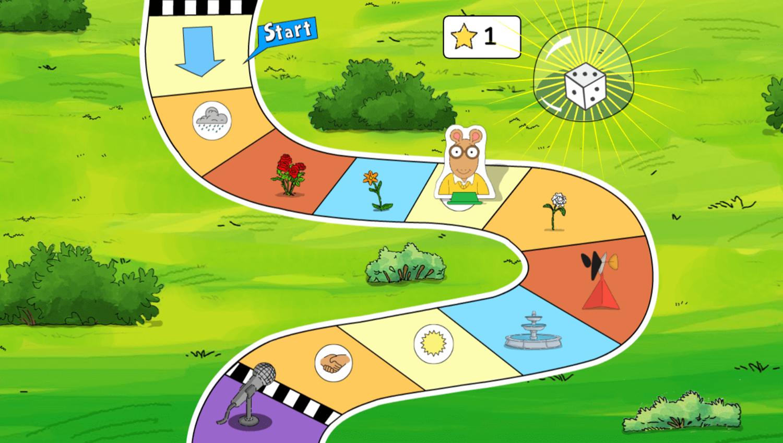 Arthur's Park Game Dice Move Screenshot.