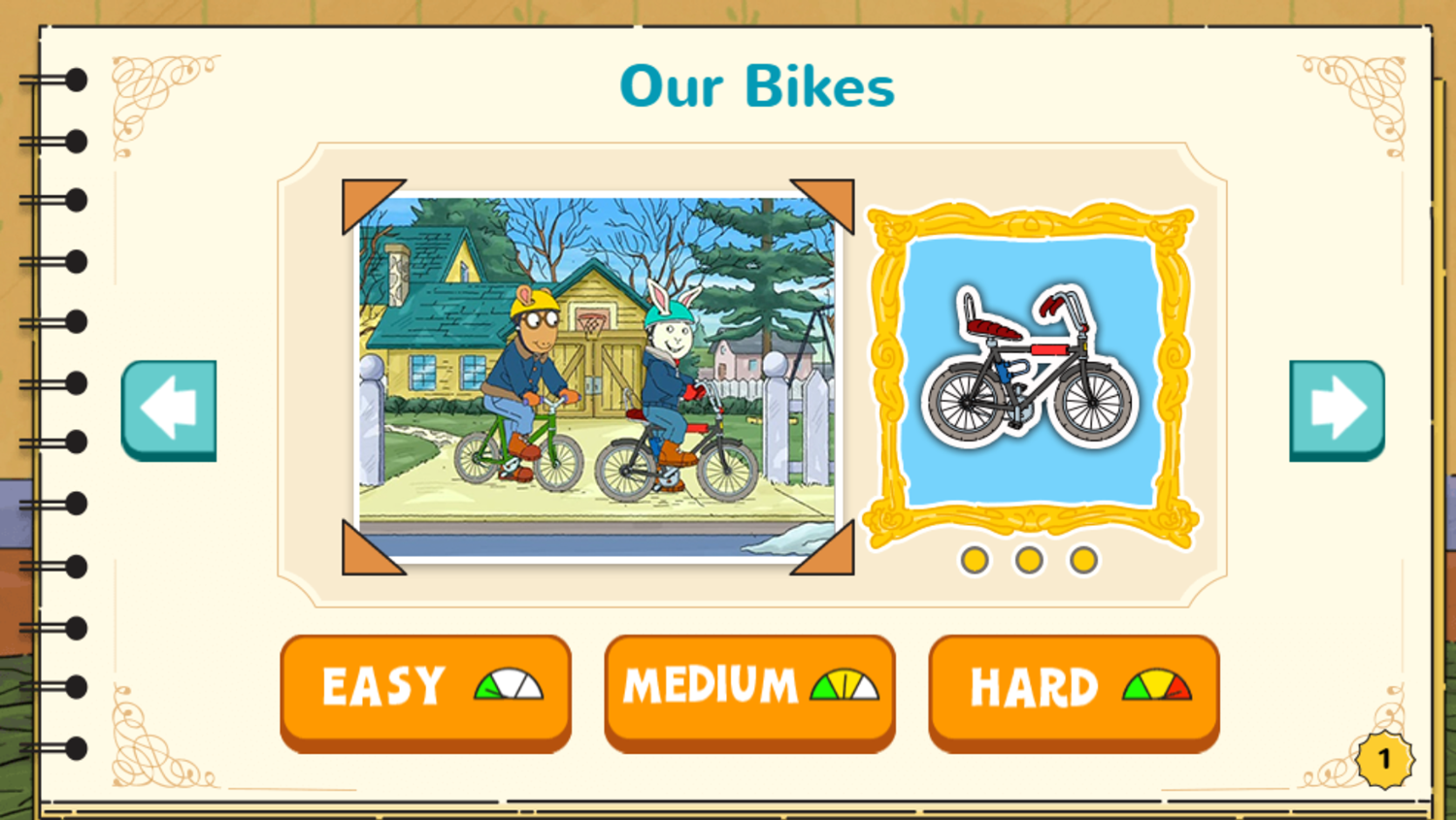 Arthur's Top 20 Game Our Bikes Completed Screenshot.