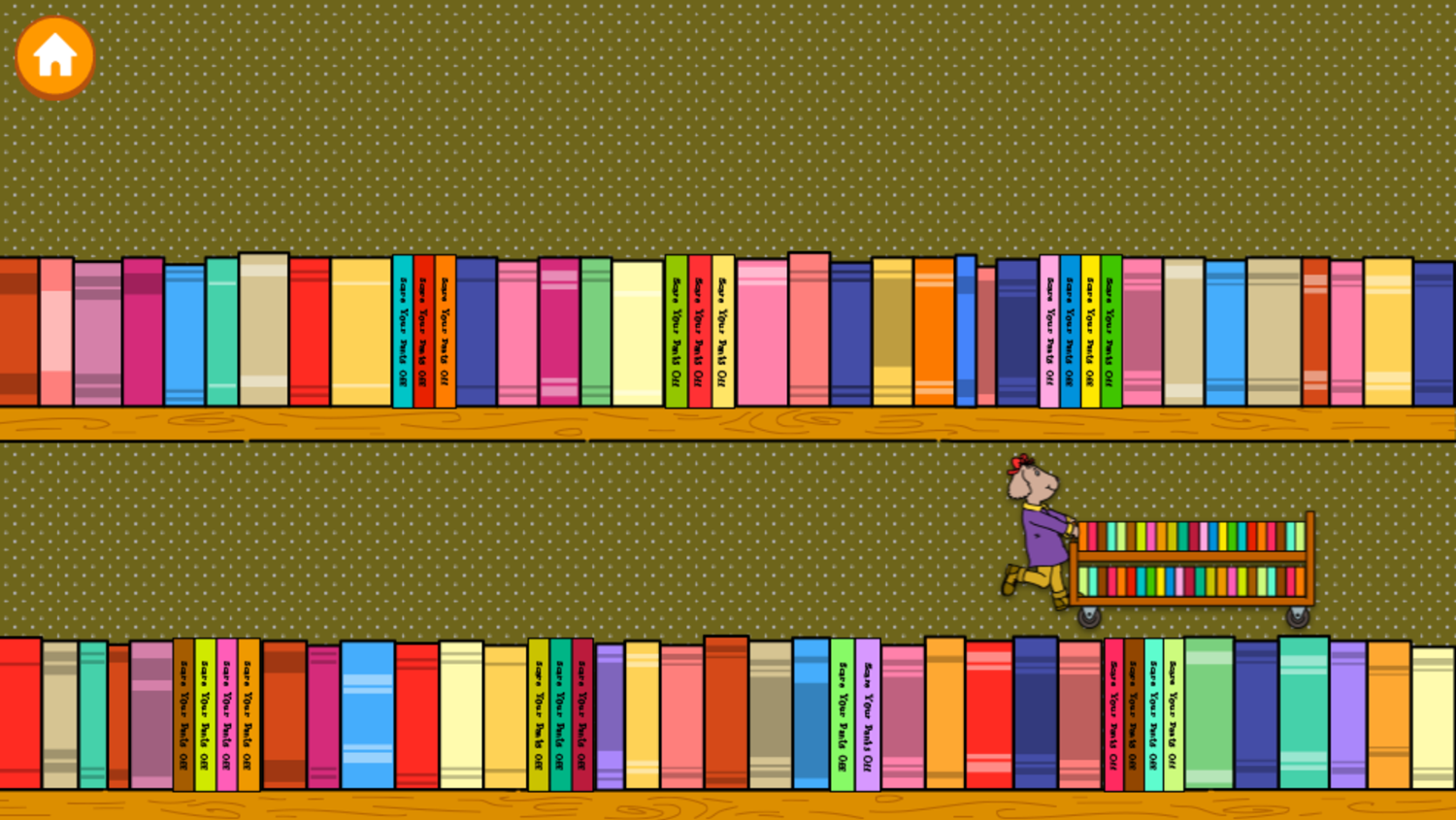 Arthur's Top 20 Game Scare Your Pants Off Books Stage Complete Screenshot.