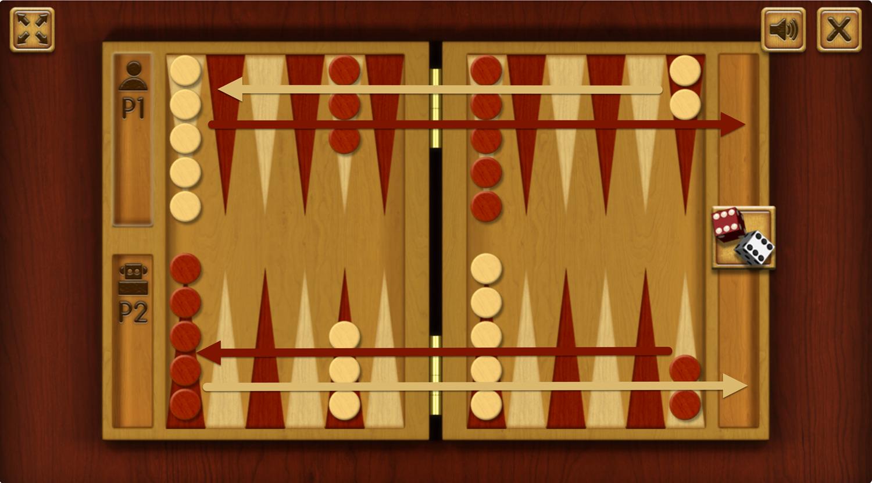 Backgammon Movement Direction.