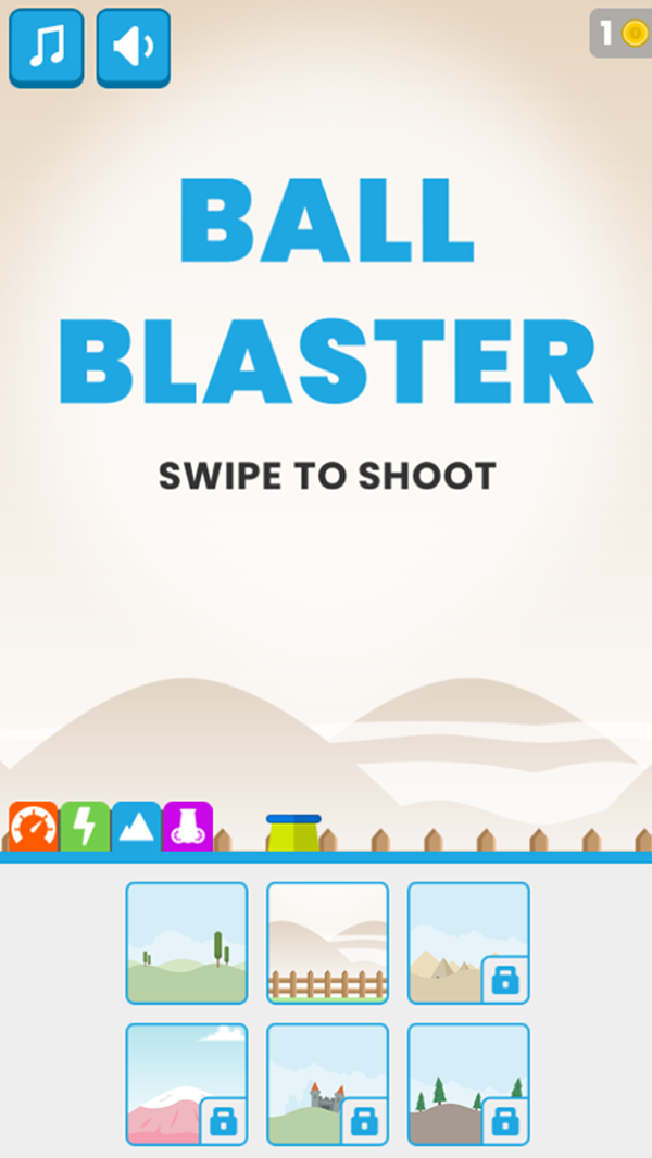Ball Blaster Game Background Options Screenshot.