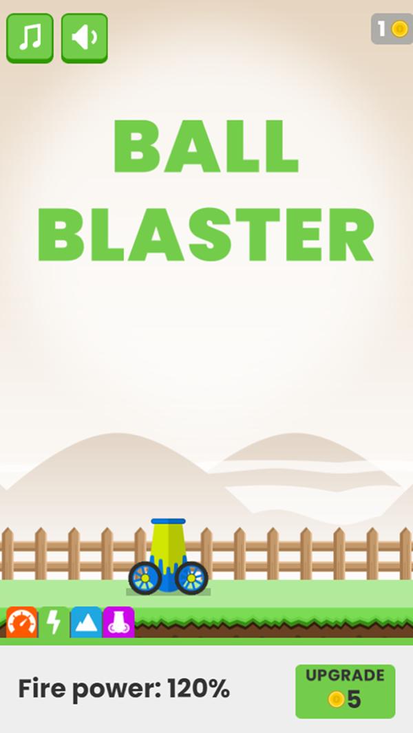 Ball Blaster Game Fire Power Upgrade Screenshot.