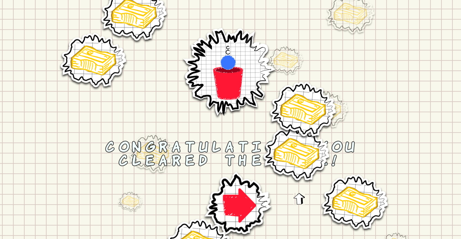 Ball in the Cup Game Won Screenshot.