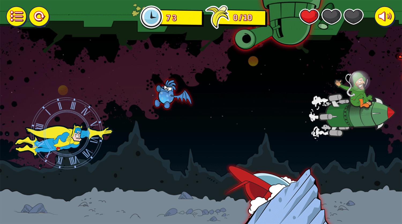 Bananaman Chase in Space Game Screenshot.