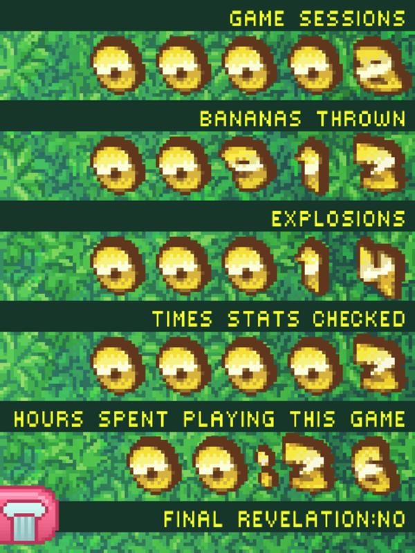 Bananamania Game Stats Screenshot.