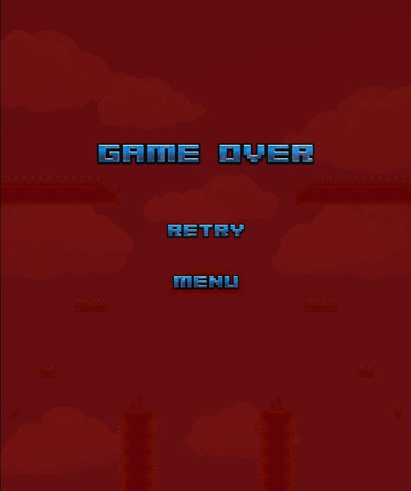 Barbarian Escape Game Over Screenshot.