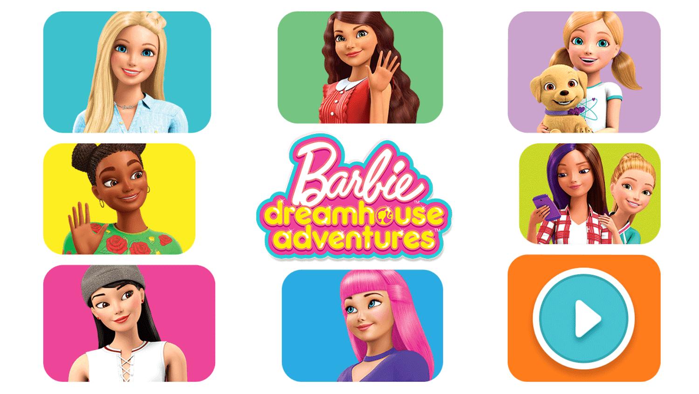 Barbie Dreamhouse Adventure Game Welcome Screen Screenshot.