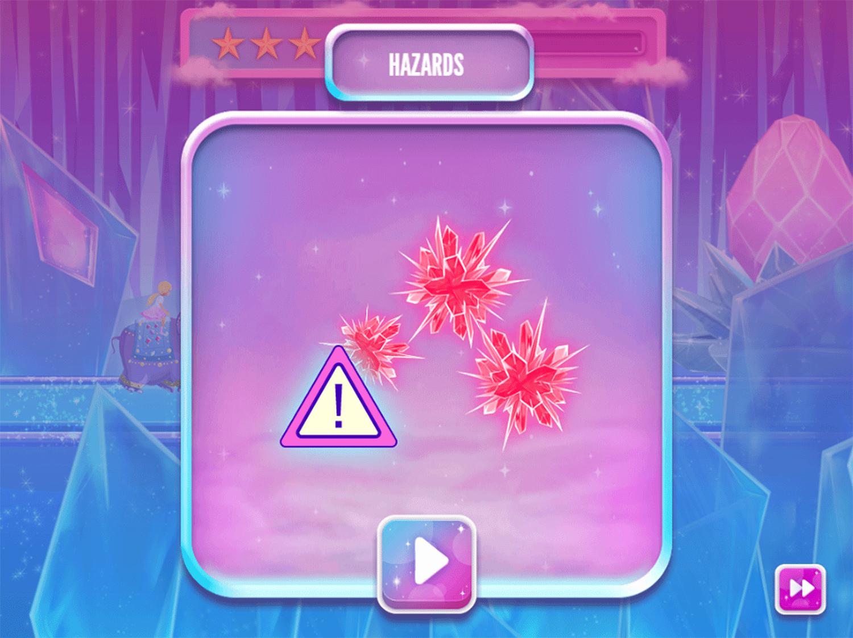 Barbie Dreamtopia Sparkle Mountain Royal Ride Game How To Play Screenshot.