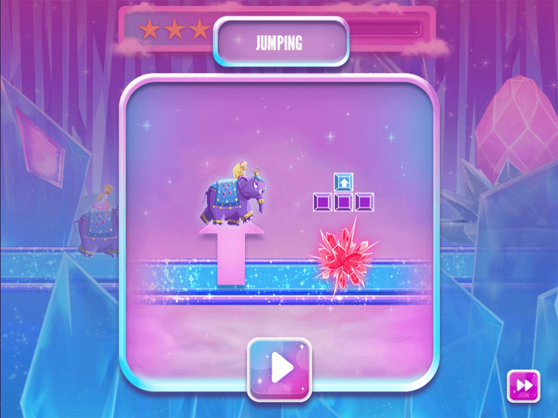 Barbie Dreamtopia Sparkle Mountain Royal Ride Game Instructions Screenshot.