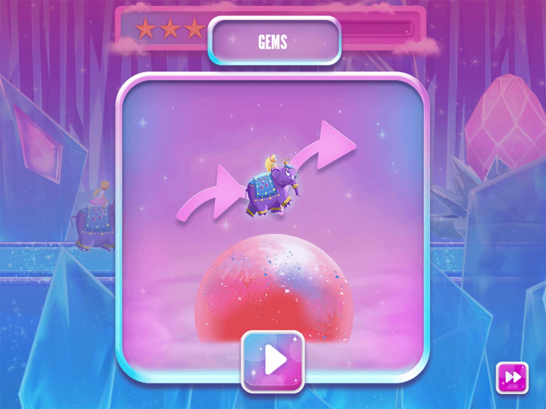 Barbie Dreamtopia Sparkle Mountain Royal Ride Game Play Tips Screenshot.