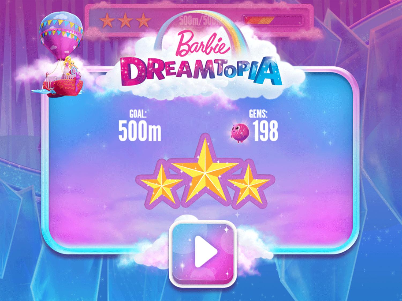 Barbie Dreamtopia Sparkle Mountain Royal Ride Game Score Screenshot.