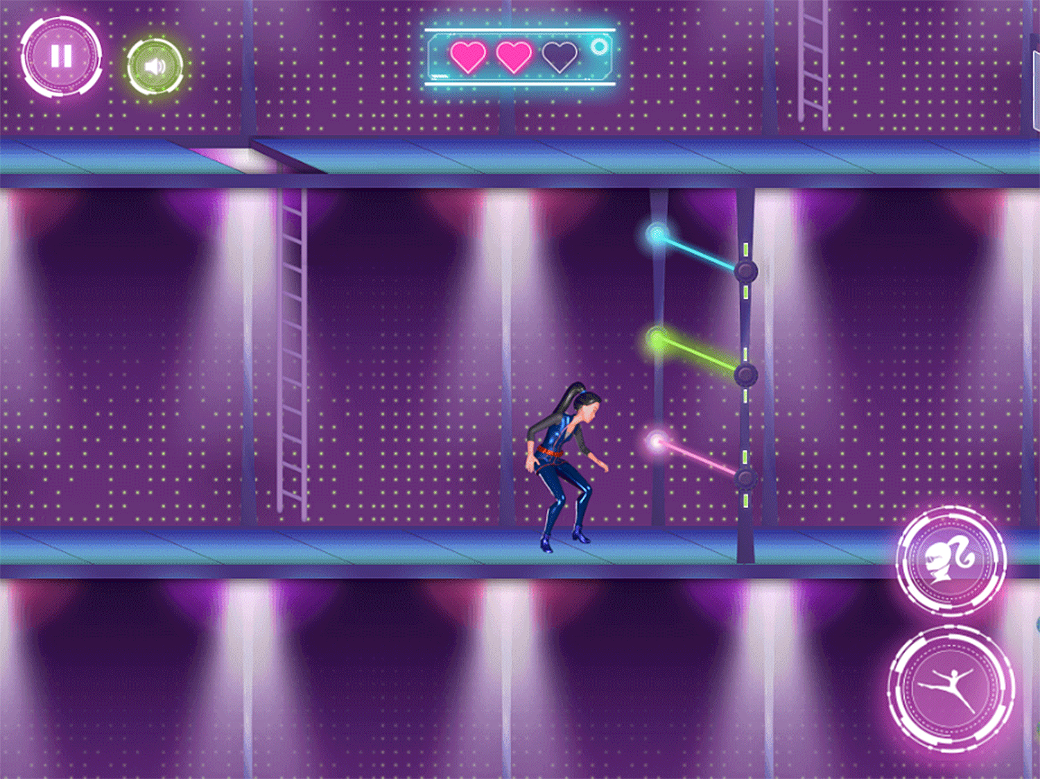 Barbie Spy Squad Academy Game Laser Sneaking Game Screenshot.