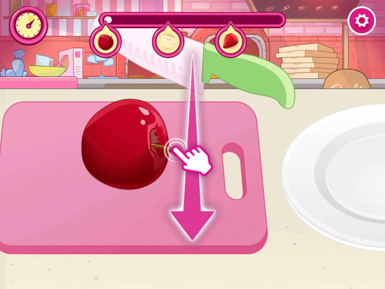 Barbie You Can Be a Chef Game Cut Fruits Screenshot.