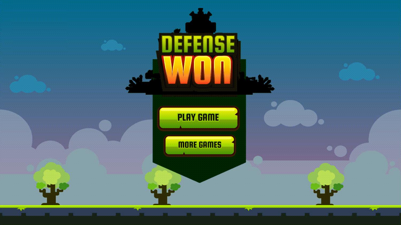 Base Defense Game Won Screen Screenshot.