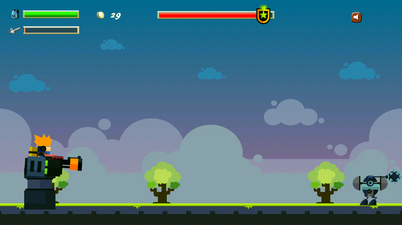 Base Defense Game Screen Screenshot.