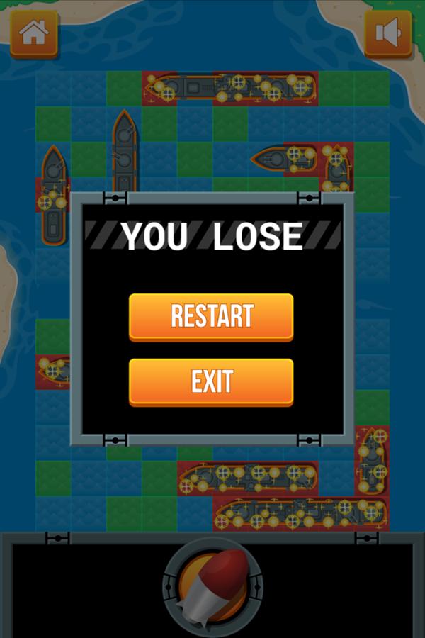 Battleship Game You Lose Screenshot.