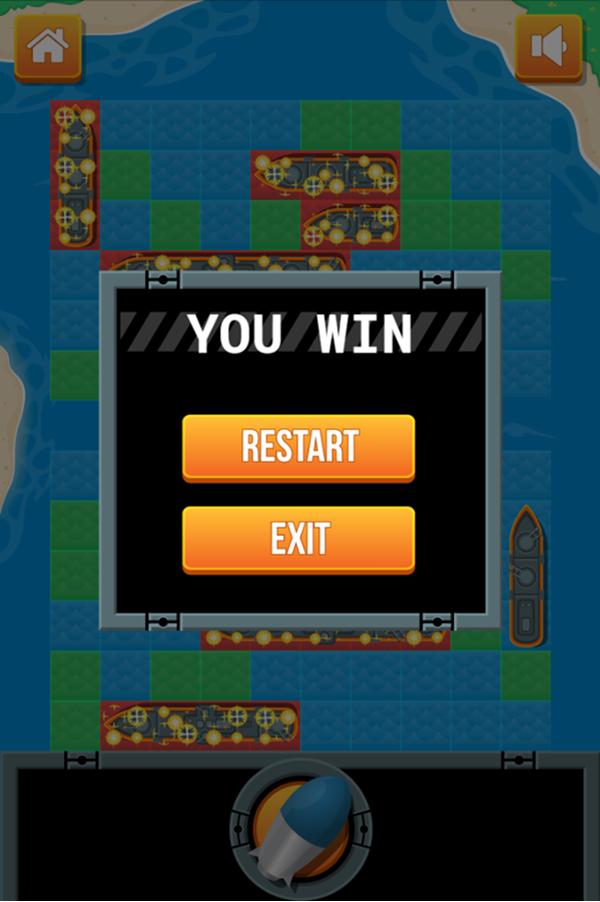 Battleship Game You Win Screenshot.