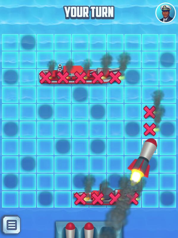 Battleships Armada Game Shooting Screenshot.