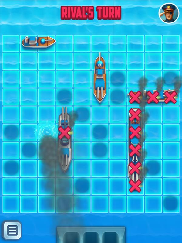 Battleships Armada Opponent Turn Screenshot.