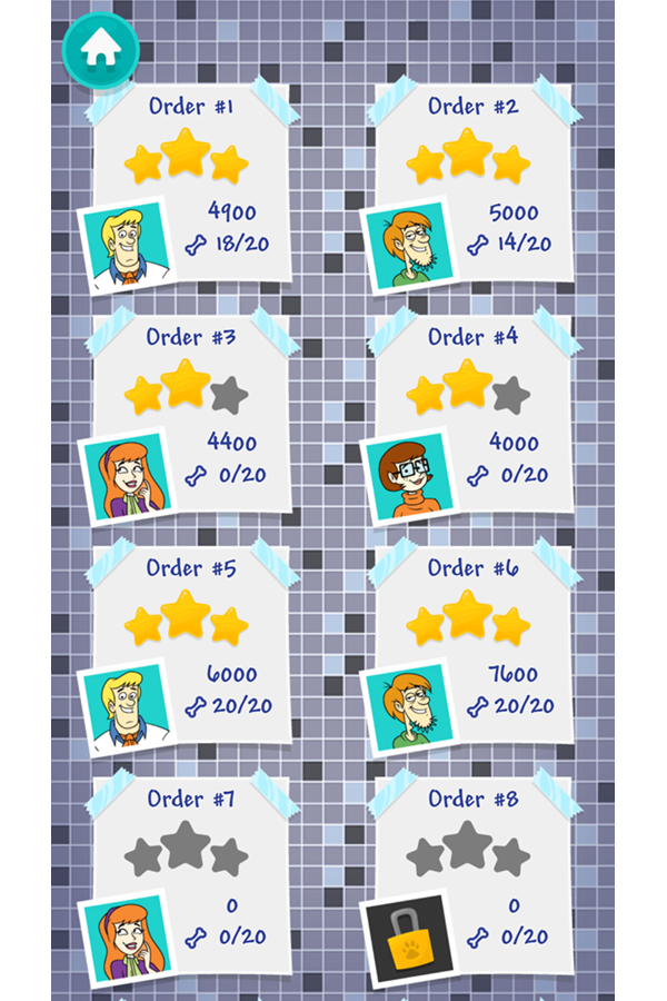 Be Cool Scooby Doo Sandwich Tower Level Select Screenshot.