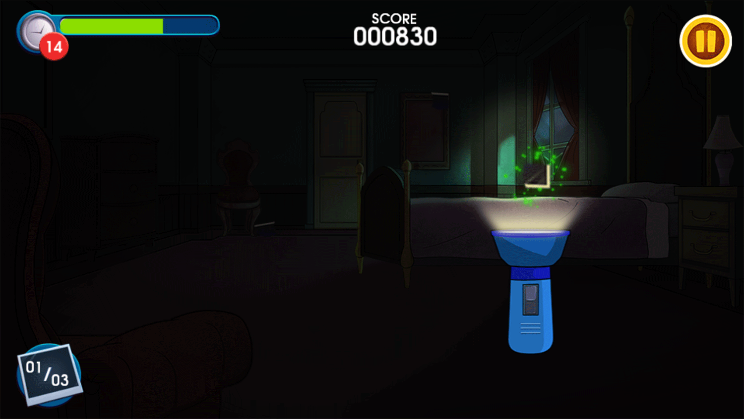 Be Cool Scooby Doo the Mysterious Mansion Find Clues Game Screenshot.