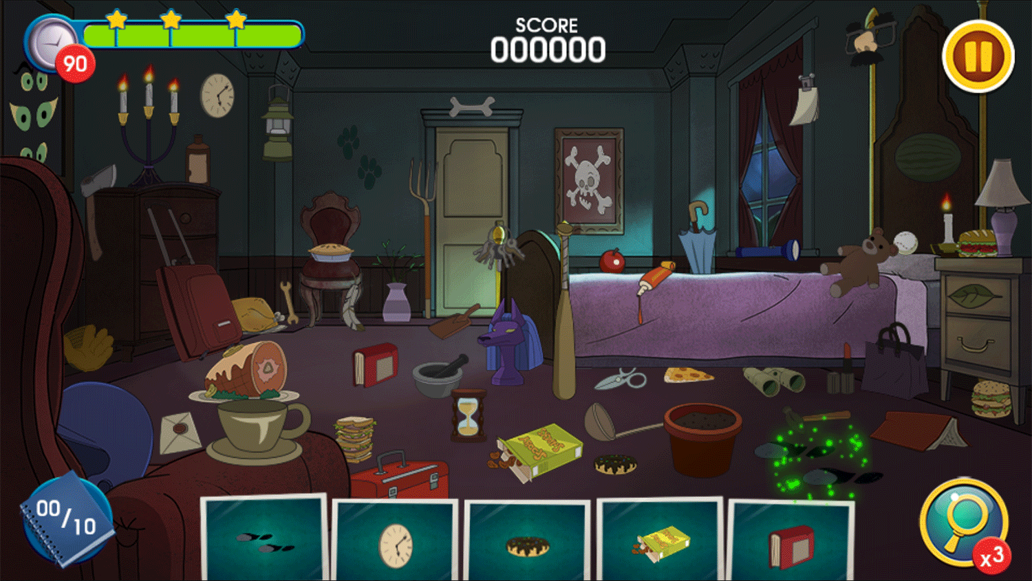Be Cool Scooby Doo the Mysterious Mansion Game Screenshot.