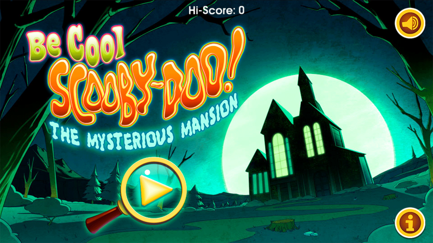 Be Cool Scooby Doo the Mysterious Mansion Welcome Screen Screenshot.