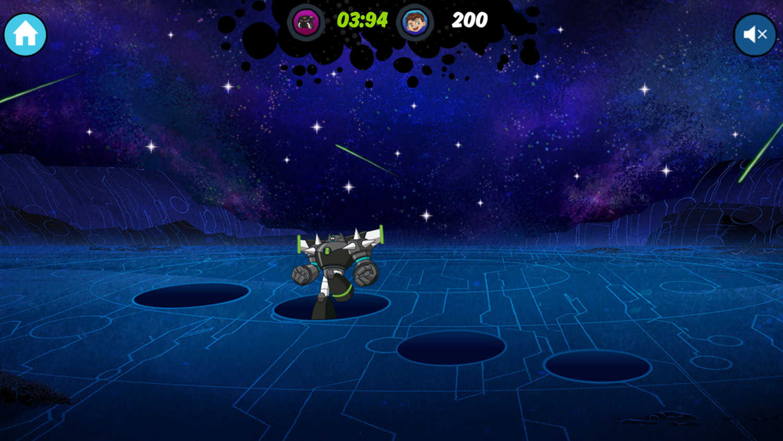 Ben 10 Alien Catcher Game Screenshot.