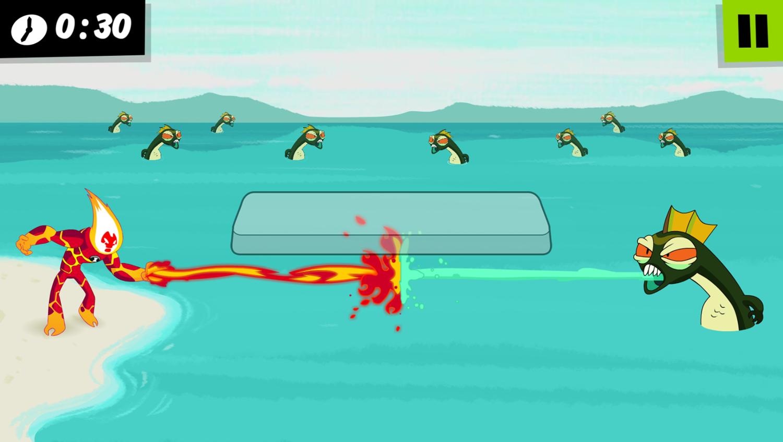 Ben 10 Heatblast fight Game How To Play Screenshot.