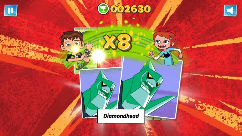 Ben 10 Match Up Game Combo Screenshot.