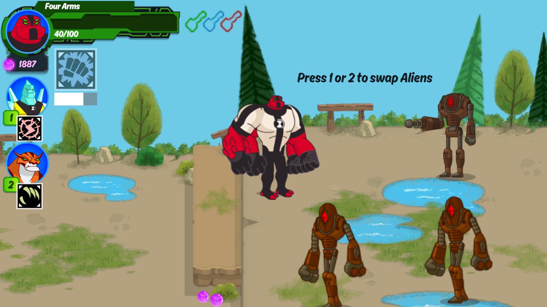 Ben 10 Omnitrix Shadow Game Extra Tips Screenshot.
