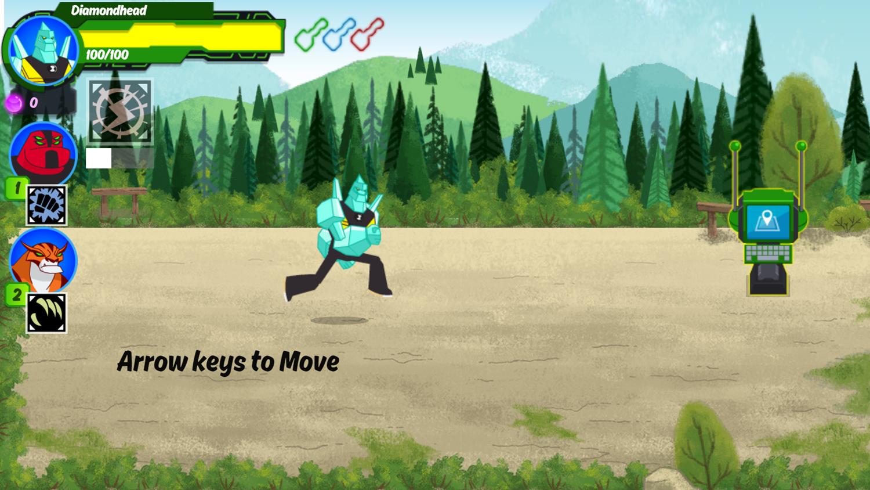 Ben 10 Omnitrix Shadow Game How To Play Screenshot.