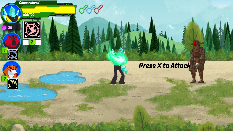 Ben 10 Omnitrix Shadow Game Instructions Screenshot.