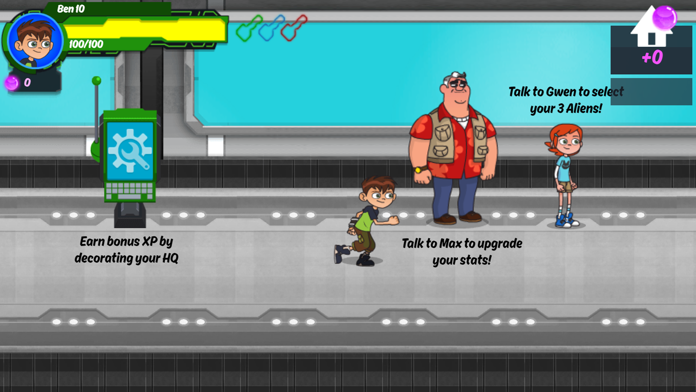 Ben 10 Omnitrix Shadow Game Main Menu Screenshot.