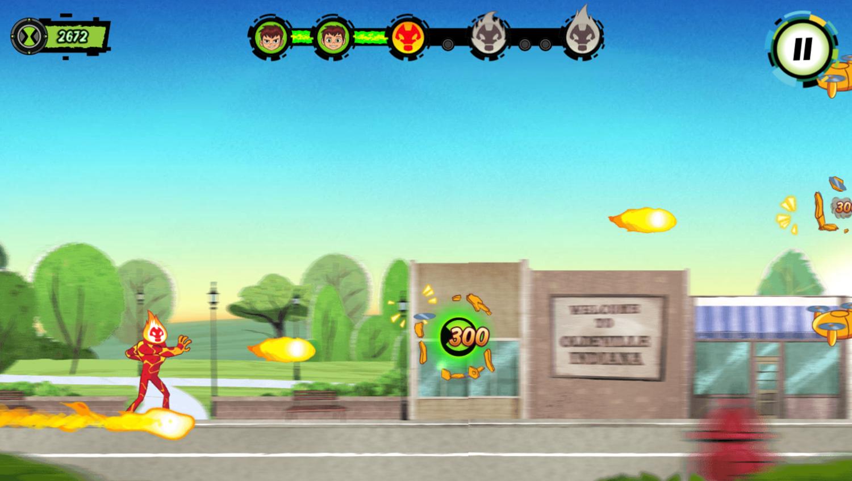 Ben 10 Power Surge Game Screenshot.