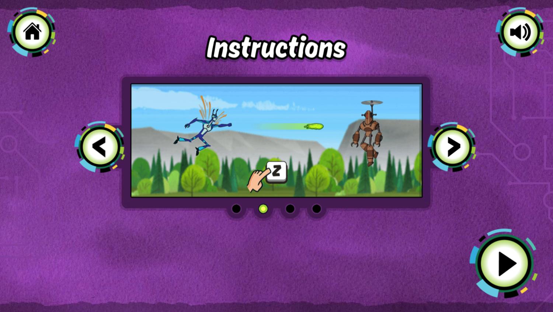 Ben 10 Steam Camp Game Instructions Screenshot.