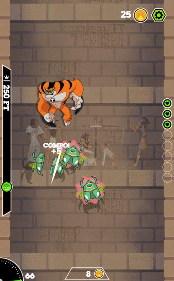 Ben 10 Tomb of Doom Game Screenshot.