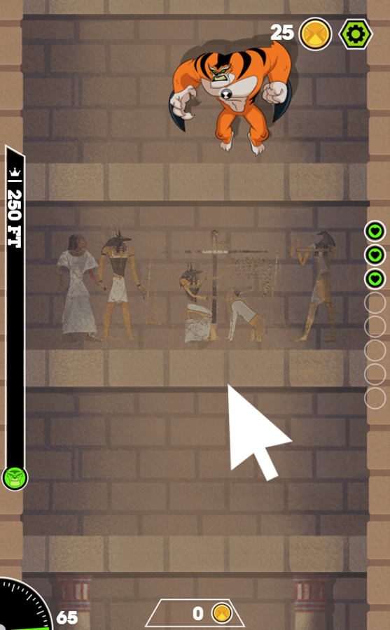 Ben 10 Tomb of Doom Game Instructions Screenshot.