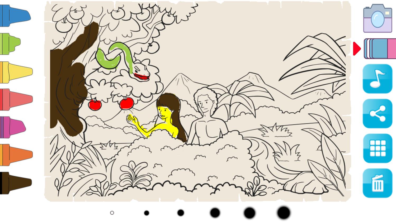 Bible Coloring Book App for Kids Screenshot.